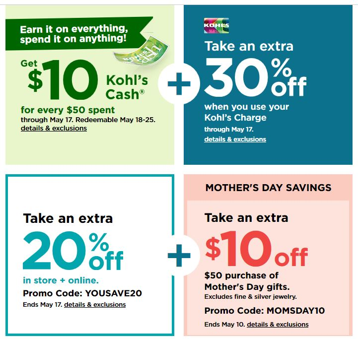 Kohls 30% OFF Printable Coupons Code plus Free Shipping May 2020