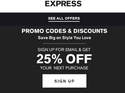 Express 25% Off Next Purchase With Express Email Sign Up