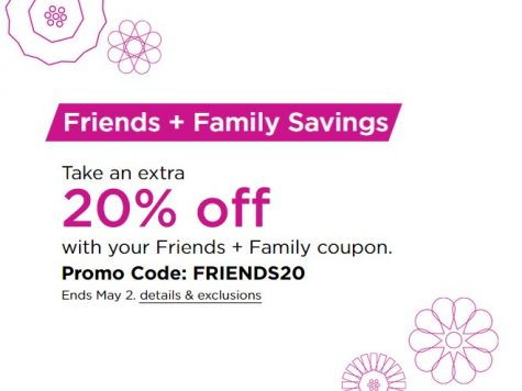 Kohls Friends & Family Sale! 20% Off Your Order