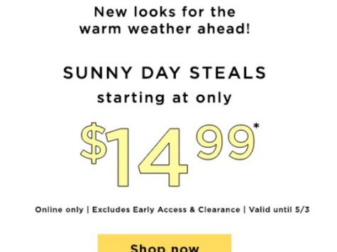 LOFT Outlet Up to 60% Off + Extra 15% Off Your Purchase