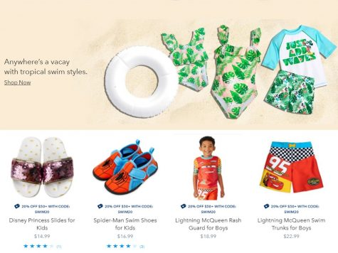 Shop Disney Store 20% Off Select Swim Style Purchases of $50+