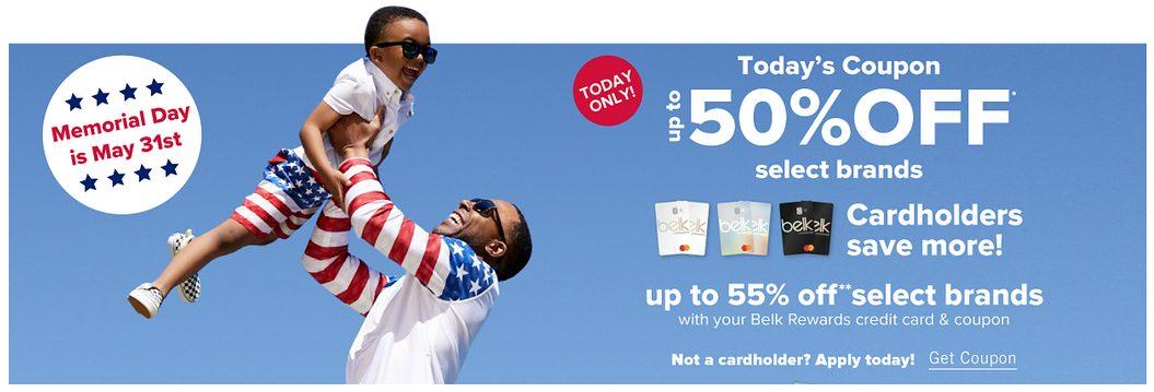 Belk Extra 50% OFF Memorial Day Sale
