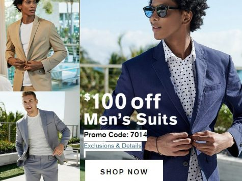Express $100 Off Men's Suits With + 50% Off Styles We Love