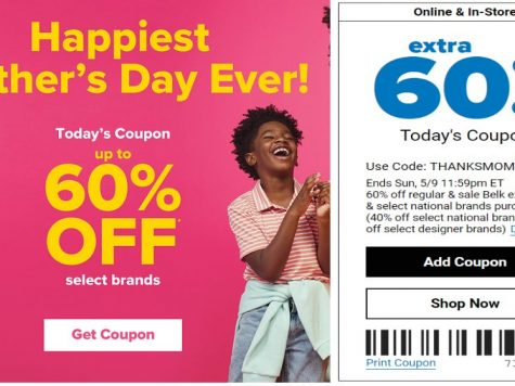 Happiest Mother's Day ever. Up To 60% OFF Belk Exclusives & National Brands