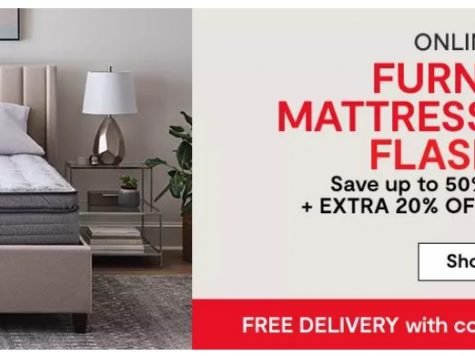 JCPenney 50% Off Furniture, Mattresses & Rugs Flash Sale