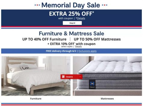 JCPenney Extra 25% Off Memorial Day Sale