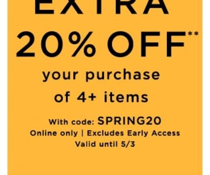 LOFT Outlet Extra 20% Off Qualifying Purchase of 4+ Items