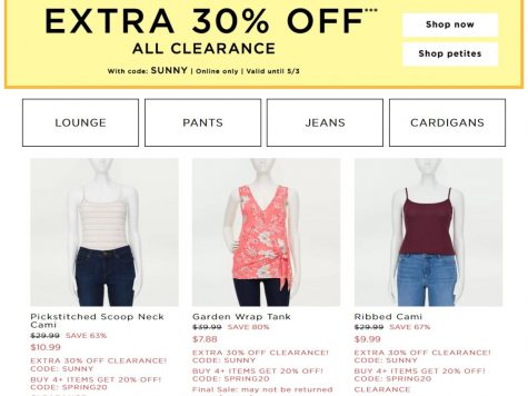LOFT Outlet Extra 30% Off Clearance