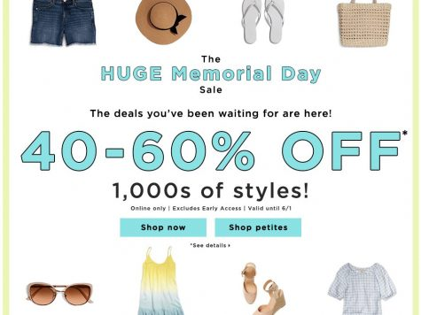 LOFT Outlet Memorial Day Sale 40-60% Off 1,000s of Styles