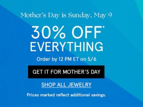 Zales Jewelry Mother's Day! 30% Off Sitewide