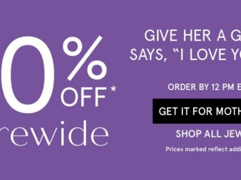 Zales Outlet Mother's Day! 50% Off Sitewide